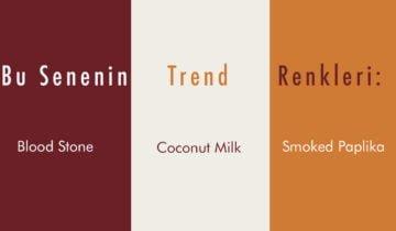 Bu Senenin Trend Renkleri: Blood Stone, Coconut Milk, Smoked Paplika